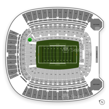 Pittsburgh Panthers Football at Heinz Field Section 119 View