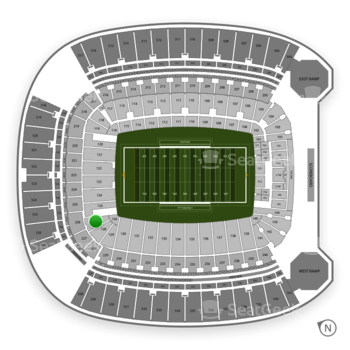 Pittsburgh Panthers Football at Heinz Field Section 127 View