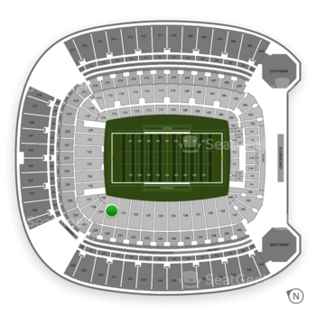 Pittsburgh Panthers Football at Heinz Field Section 130 View