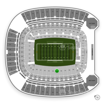 Pittsburgh Panthers Football at Heinz Field Section 135 View