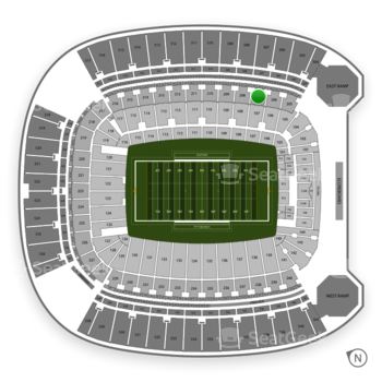 Pittsburgh Panthers Football at Heinz Field Section 207 View