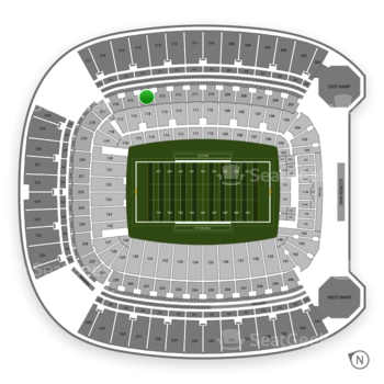 Pittsburgh Panthers Football at Heinz Field Section 214 View