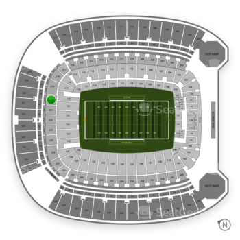 Pittsburgh Panthers Football at Heinz Field Section 220 View