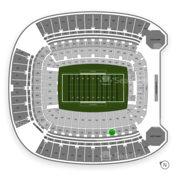 Pittsburgh Panthers Football at Heinz Field Section 237 View