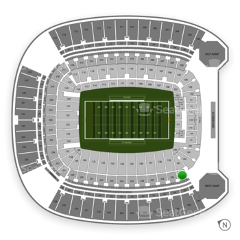 Pittsburgh Panthers Football at Heinz Field Section 240 View