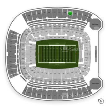 Pittsburgh Panthers Football at Heinz Field Section 508 View