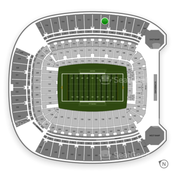 Pittsburgh Panthers Football at Heinz Field Section 509 View