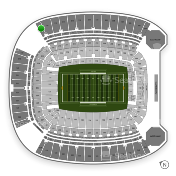 Pittsburgh Panthers Football at Heinz Field Section 517 View