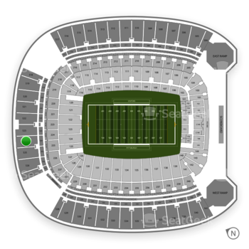 Pittsburgh Panthers Football at Heinz Field Section 524 View