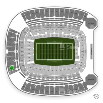Pittsburgh Panthers Football at Heinz Field Section 526 View