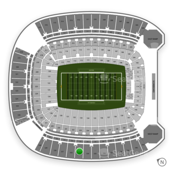 Pittsburgh Panthers Football at Heinz Field Section 533 View