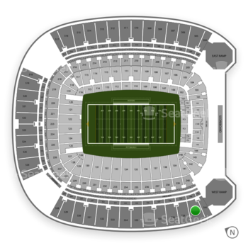 Pittsburgh Panthers Football at Heinz Field Section 540 View
