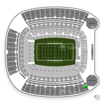 Pittsburgh Panthers Football at Heinz Field Section 541 View