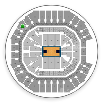 Charlotte Hornets at Spectrum Center Section 204 View