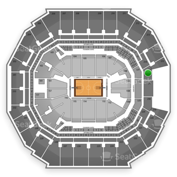 Charlotte Bobcats at Time Warner Cable Arena Section 216 View