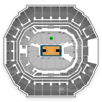 Charlotte Hornets at Spectrum Center Section 105 View