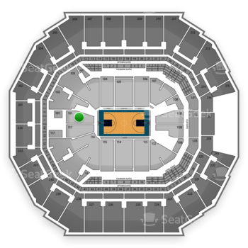 Charlotte Hornets at Time Warner Cable Arena Section 101 View