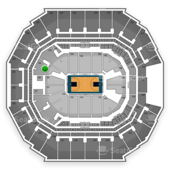 Charlotte Hornets at Time Warner Cable Arena Section 102 View