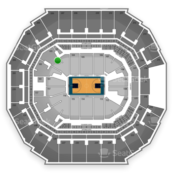 Charlotte Hornets at Time Warner Cable Arena Section 103 View
