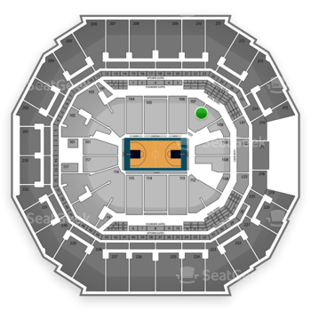 Charlotte Hornets at Time Warner Cable Arena Section 107 View