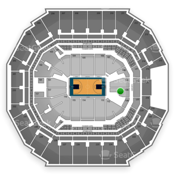 Charlotte Hornets at Time Warner Cable Arena Section 110 View