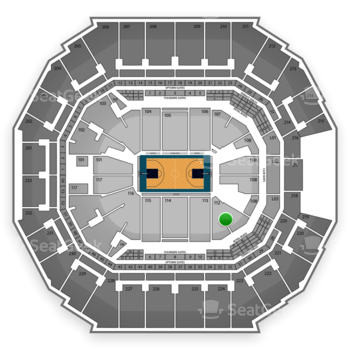 Charlotte Hornets at Time Warner Cable Arena Section 112 View