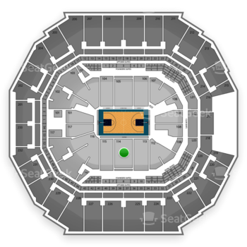 Charlotte Hornets at Time Warner Cable Arena Section 114 View