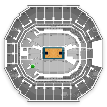 Charlotte Hornets at Time Warner Cable Arena Section 116 View