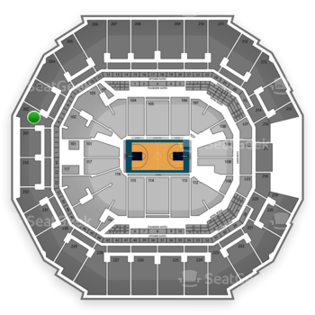 Charlotte Hornets at Time Warner Cable Arena Section 202 View