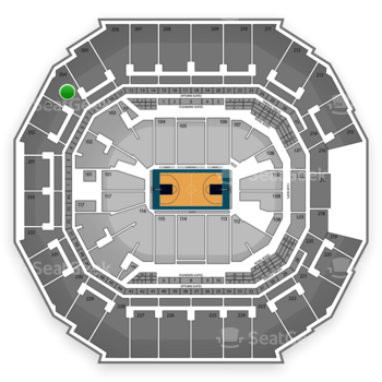 Charlotte Hornets at Time Warner Cable Arena Section 204 View