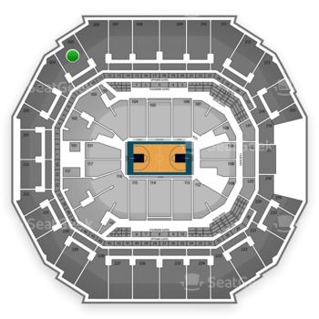 Charlotte Hornets at Time Warner Cable Arena Section 205 View