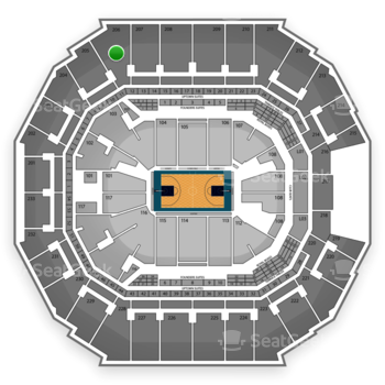 Charlotte Hornets at Time Warner Cable Arena Section 206 View