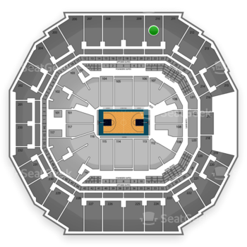 Charlotte Hornets at Time Warner Cable Arena Section 210 View