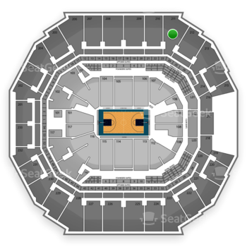 Charlotte Hornets at Time Warner Cable Arena Section 211 View