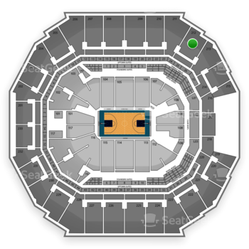 Charlotte Hornets at Time Warner Cable Arena Section 212 View