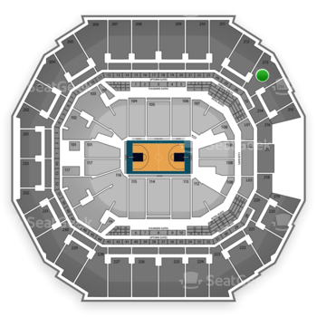 Charlotte Hornets at Time Warner Cable Arena Section 213 View