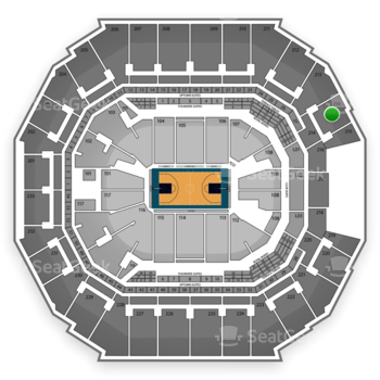 Charlotte Hornets at Time Warner Cable Arena Section 214 View