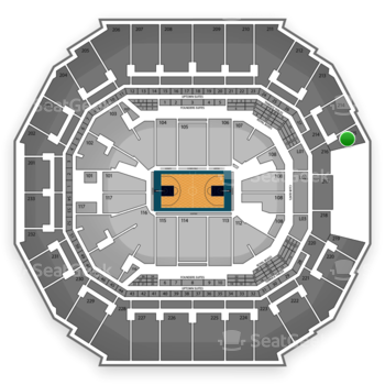 Charlotte Hornets at Time Warner Cable Arena Section 215 View