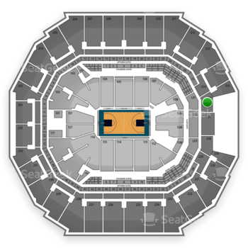Charlotte Hornets at Time Warner Cable Arena Section 216 View