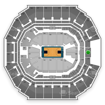 Charlotte Hornets at Time Warner Cable Arena Section 217 View