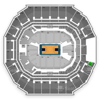 Charlotte Hornets at Time Warner Cable Arena Section 219 View