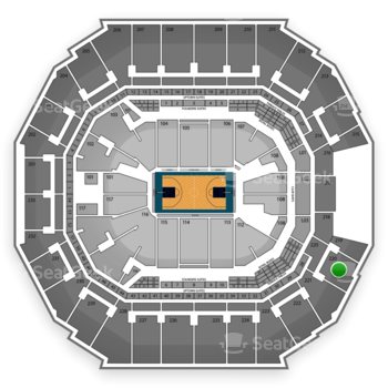 Charlotte Hornets at Time Warner Cable Arena Section 220 View