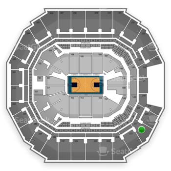 Charlotte Hornets at Time Warner Cable Arena Section 221 View