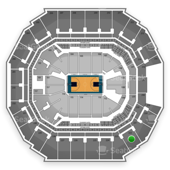 Charlotte Hornets at Time Warner Cable Arena Section 222 View