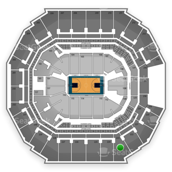 Charlotte Hornets at Time Warner Cable Arena Section 223 View
