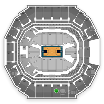 Charlotte Hornets at Time Warner Cable Arena Section 225 View