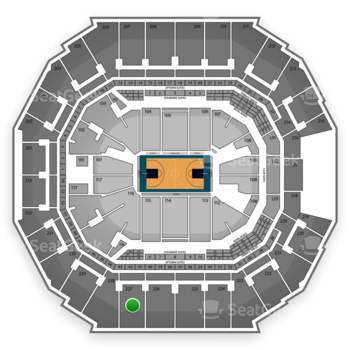 Charlotte Hornets at Time Warner Cable Arena Section 227 View
