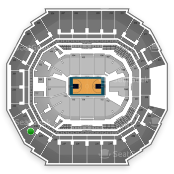 Charlotte Hornets at Time Warner Cable Arena Section 230 View