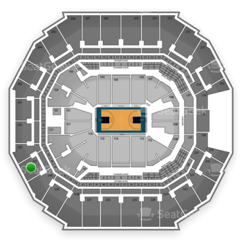 Charlotte Hornets at Time Warner Cable Arena Section 231 View