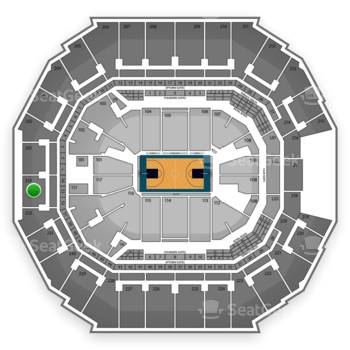 Charlotte Hornets at Time Warner Cable Arena Section 233 View